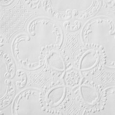 Alfred Paintable White wallpaper by Anaglypta