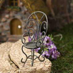 miniature garden chair #fairygarden