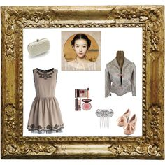vintage style 2 by elenilor on Polyvore featuring Chicwish, Vintage, Lipsy, Charlotte Tilbury and vintage