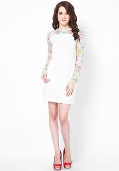 Full Sleeve White Dress at $68.40 (24% OFF)