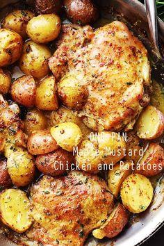 One Pan Maple Mustard Chicken {Diethood}