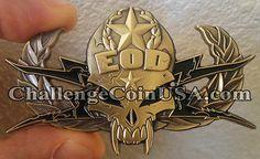 EOD Skull Challenge Coin