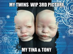 my twins WIP 3rd pictue of tina & tony they now have eyebrows