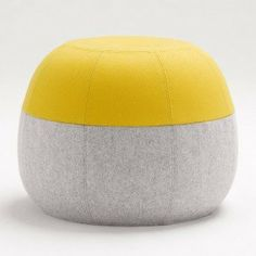 Yellow Light Grey Puku Ottoman By Coco Flip Like These Colours Thinking Of For An Occasional Chair In The Lounge