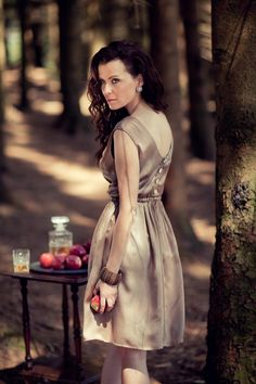 silk, caramel, dress, silkdress, design, fashion photo: haakon nordvik