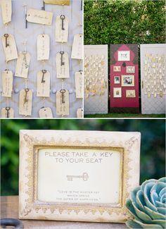 Vanilla Wedding Design: Ispirazioni per Tableau de Mariage o Sitting Plan...