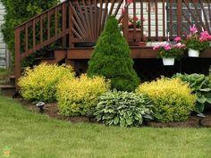 Low Maintenance Landscaping Around Deck Patio - - - Landscaping Around Deck, Backyard Landscaping, Landscaping Ideas, Landscaping Software, Patio Ideas, Modern Landscaping, Backyard Ideas, Country Landscaping, Backyard Patio
