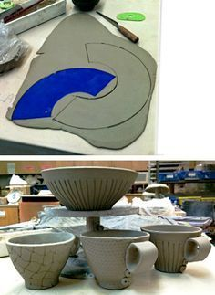 template for bowl slab pottery ceramics clay