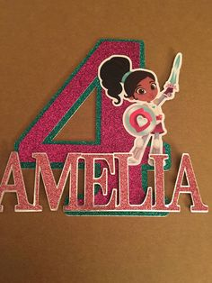 Nella, the princess knight is here. Please include the name and age for your topper in the note to seller section when ordering. Cake toppers are sized for an 8 inch cake, but can be made larger or smaller upon request.
