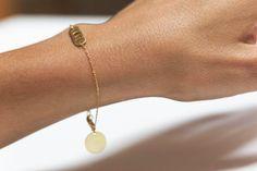Love Bracelet Gold Love Bracelet Dainty Bracelet with by MinimalVS