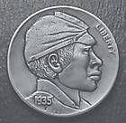 "Hobo nickel ""Buffalo Soldier"" by William Jameson"
