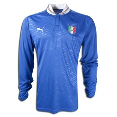 Italy Puma 2012-13 Italy Euro 2012 Long Sleeve Home Shirt Official 2012-13 Italy Long Sleeve Home Shirt available to buy online. This is the brand new long sleeved football shirt of the Italian National Team which will be worn in the Euro 2012 tournament fin http://www.comparestoreprices.co.uk/football-shirts/italy-puma-2012-13-italy-euro-2012-long-sleeve-home-shirt.asp