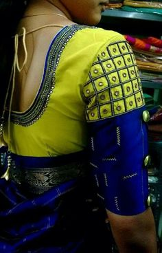 attractive and amazing Work blouse designs for bride........!!!@!!