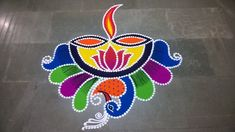 Diya Rangoli With Pen Holder For Diwali. Diya Rangoli, Indian Rangoli, Flower Rangoli, Free Hand Rangoli Design, Rangoli Designs Diwali, Kolam Designs, Diwali Drawing, Diwali Decorations, Fat Workout