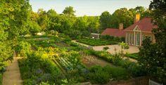 The Upper Garden at George Washington's Mount Vernon