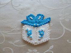 "3"" birthday gift sugar cookie in Blue"