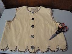 Womens Vintage Double D Ranchwear Vest Sleeveless Top by BathoryZ