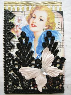 Vintage ATC with Lace