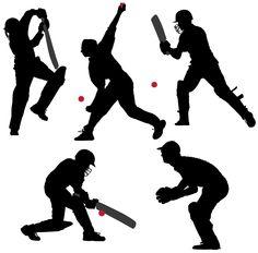 Buy Cricket Sport Silhouette by iamsania on GraphicRiver. Cricket Sport Silhouette on white background