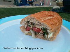 """Pan Bagnat is the perfect french lunch or dinner picnic food. Yummy sandwich with fennel, tuna, black olives, chickpeas, tomato and a delicious mayo-free dressing"" (use GF rolls)"