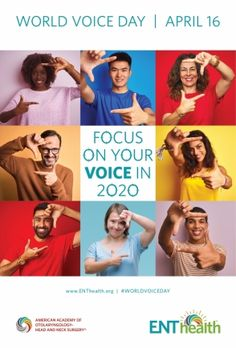 World Voice Day | American Academy of Otolaryngology-Head and Neck Surgery Neck Surgery, Head And Neck, The Voice, American, World, Health, Day, Health Care, Salud