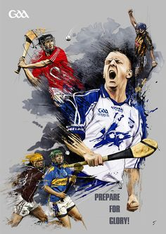 Gaa hurling by tomasz usyk, via behance Sports Party, Kids Sports, Sport Man, Sport Girl, Diabetic Dog, Magazine Art, Custom Posters, Gym Men, Sports