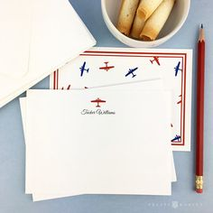 Airplane Stationery for boys Boys Personalized Stationery