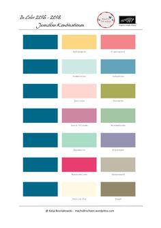 Jeansblau - meine lieblings Farbkombinationen mit den neuen In Colors 2016-2018 von Stampin' Up!