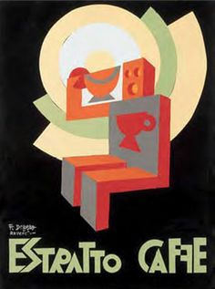 Fortunato Depero, 1928, Estratto Caffe. (I) #Italian_Futurism
