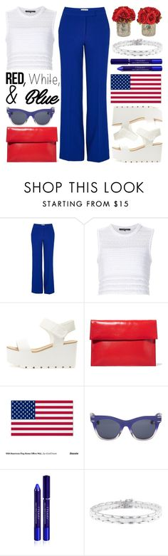"""Red, White and Blue Fashion"" by helenevlacho ❤ liked on Polyvore featuring Essentiel, Thakoon, Marni, Henri Bendel, By Terry, Chanel, redwhiteandblue, contestentry and july4th"