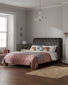 Room set photography for Dreams beds for their Croft black leather bed. Set build by our in house carpenter, Tom. Black Leather Bed, Studio Rental, Chandelier Bedroom, Dreams Beds, Video Studio, Bedroom Styles, Wooden Flooring, Room Set, Carpenter