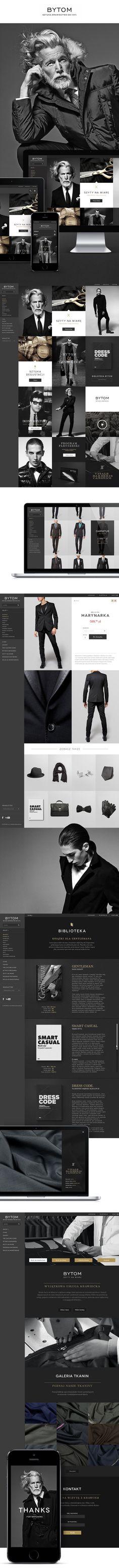 Bytom - art of tailoring since 1945 by Michał Młodożeniec, via Behance Web Design, Layout Design, Graphic Design, Ui Web, Behance, Branding, Digital, Board Ideas, Profile