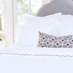 Enter to Win the Crane & Canopy The Linden White Border Duvet Set!