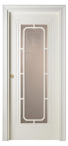Cabla Vetro Interior Pocket Door White Ash