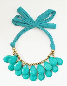 Teardrop Bib Necklace, Drop Necklace, Bead Necklace, Turquoise Necklace, Two Tier Necklace, Statement Bib Necklace, Briolette Necklace $10.90