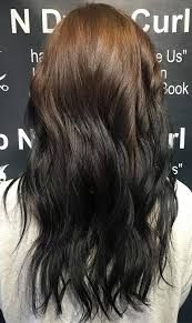 Image result for brown to black reverse ombre hair
