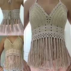 Do you want to see these designs prepared for you? Source by minapuentes de crochet Top Tejidos A Crochet, Boho Crochet, Crochet Bra, Baby Girl Crochet, Crochet Crop Top, Crochet Blouse, Crochet Fashion, Crochet Clothes, Bikinis Crochet