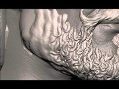 Zbrush demo beard sculpting - YouTube