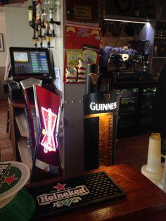Branded T-Bar Beer Taps. Founts / Fonts. Ireland. ⋈yer