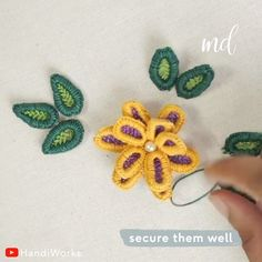 Magical is what best describes hand embroidery! By: HandiWorks Brazilian Embroidery Stitches, Hand Embroidery Videos, Hand Embroidery Flowers, Flower Embroidery Designs, Creative Embroidery, Embroidery For Beginners, Embroidery Techniques, Ribbon Embroidery, Diy Embroidery Patterns
