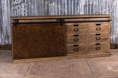 This copper sideboard is a great piece of industrial style furniture. Crafted…