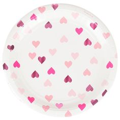 Pink Foil Heart Plates (8 Pack) – Lucky Lulu Party Shop