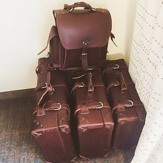If you plan on living out of a Suitcase for ten weeks, make it a good one …or three. Best of luck to you in Zambiabrendaeb! Leather Luggage, Leather Bags, Leather Craft, Leather Backpack, Saddleback Leather, Leather Company, Vintage Luggage, Leather Working, Suitcase