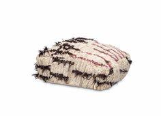 AZILAL FLOOR CUSHION NO.20  #beniourain #floorcushion #Beniourainrug #pouf #vintagerug #azilal #azilalrug #wool #woven #handmade #cushion #abstract #abstractpattern #abstractart #custommade #rug #wovenrug #knottedrug