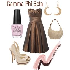 Gamma Phi Beta, created by deltagammacj on Polyvore