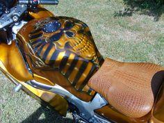 Custom Motorcycle airbrush art. visit airbrushfrankhazen.com