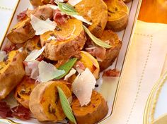 Roasted Sage Sweet Potatoes, using Crown Royal Maple Whiskey, from FoodNetwork.com