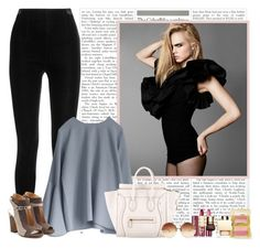 """""""Comfy Friday"""" by rachel ❤ liked on Polyvore featuring By Terry, Balmain, Maison Margiela, Wander Beauty, CÉLINE, Linda Farrow, Tom Ford and Clarins"""
