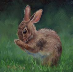 Excited to share this item from my shop: Rabbit - Rabbit art - rabbit painting - bunny art - realistic rabbit - cottontail - peter rabbit - animal art - Molly Sims art Rabbit Drawing, Rabbit Art, Bunny Painting, Molly Sims, Wildlife Paintings, Bunny Art, Bird Prints, Bird Art, Illustration Art