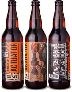 Bottle Logic Double Actuator IPA - designed by Emrich Office
